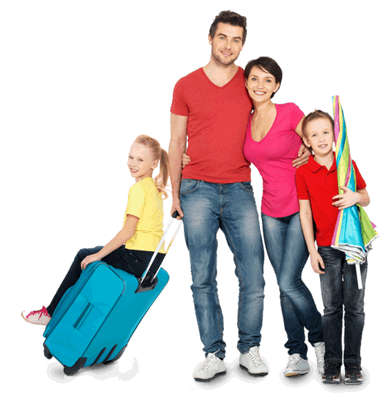 Repton Airport transfer - Family Holiday